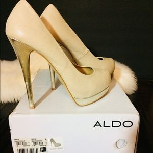Aldo Bone/Nude/Cream High Heel Stiletto Pump